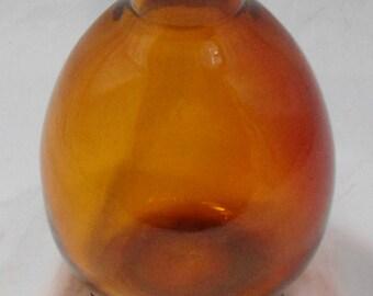 Amber Glass Jug - Vase - Vessel - Bottle - Great Condition - Vintage
