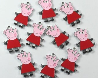10PCS Enamel Metal Charms Pendants Jewelry Making Crafts Boys Girls Birthday Party Favors Gifts DIY
