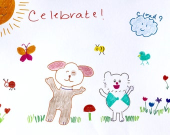 Dog and Cat, Celebration, Bee, Butterfly, Ladybug, Happiness, Sparky, Snow play, Sun smiling, Cloud 9, Lilymoonsigns,