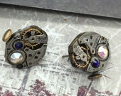 Steampunk Earrings, Handcrafted artistic jewelry -The Victorian Magpie