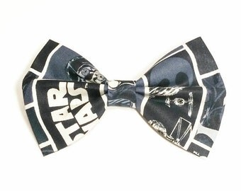 Star Wars Hair Bow • Star Wars Fabric Bow • Sci-Fi Hair Bow • Geekery Hair Bow • Women's Fashion • Gifts For Women • Christmas Gifts