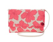 """Oversize CrossBody Clutch - One of a Kind """"Dots"""" Print - Made in Hawaii by Jana Lam"""