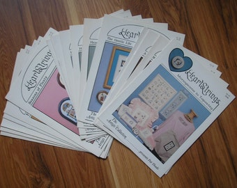 Lot 16 HeartStrings Vintage 1980s CROSS STITCH BOOKLETS Artists Collection Designs Pat Thode