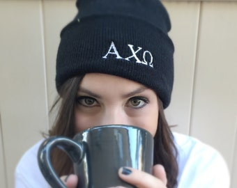 GREEK LETTER BEANIE Customize your letters at checkout