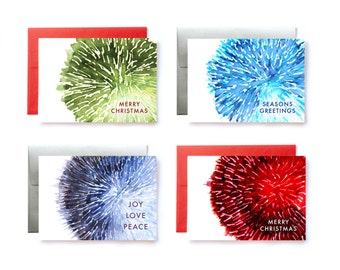 Christmas Card Set, Assorted Holiday Cards, Greeting Cards, Christmas Holiday Cards, Holiday Card Set, Assorted Christmas Cards, Watercolor