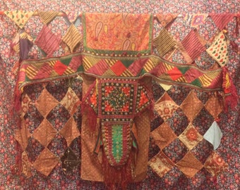 Vintage turkmen Ethnic asian camel Textiles hanging wall tribal Textiles old Textiles Home decorative wall hanging