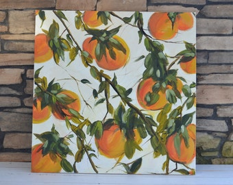 orange tree art