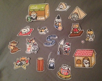 Neko Atsume Rare Cat stickers