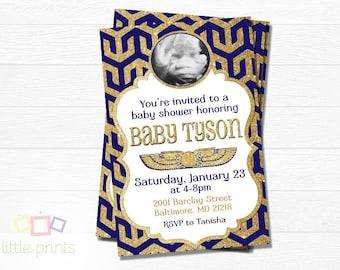 Egyptian Baby Shower invites