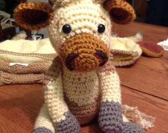 Bao the Cow, hand crocheted baby cow, Bucking Bull, Brahman, Texas Longhorn, Holstein, Hereford, Jersey, more......