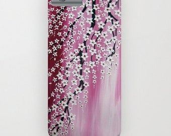 iphone case,  phone case,  phone cover, iphone 6 phone cover, pink phone case, cherry blossom phone case,  5s case, 4S cover, ipod cover