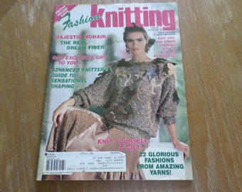Vintage 1990 Fashion Knitting Magazine # 50 December 1990