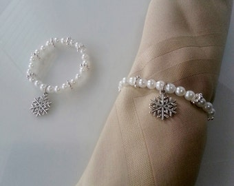Snowflake Napkin Ring - Priced Individually