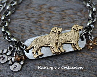 Golden Retriever Bracelet, Golden Retriever Jewelry, Golden Mom, Dog Bracelet