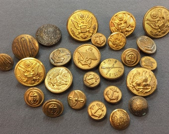 Big Bunch of Old Military Buttons