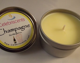 Soft Champagne scented soy candle perfect for any occasion.  Soy candle is adorably soothing with a slightly sweet, effervescent fragrance.