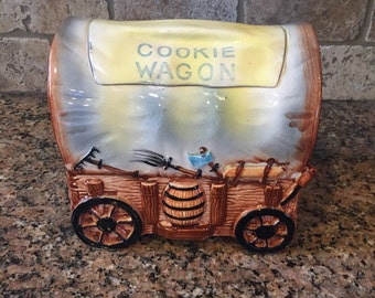 1950's Fred Roberts Company Cookie Wagon Cookie Jar