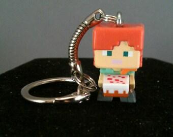 Minecraft keychains / Minecraft Alex keychain / Minecraft figure keychains / Minecraft gifts / Minecraft party / Minecraft zipper pull