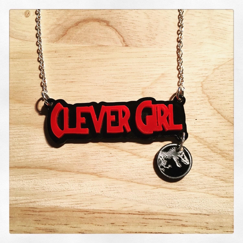 Clever Girl: Jurassic Park Inspired Velociraptor Clever Girl Acrylic Word
