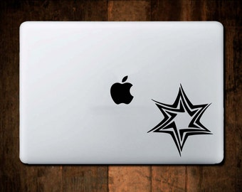 Star Macbook Decal, Macbook Sticker, laptop decal, laptop sticker, computer decal