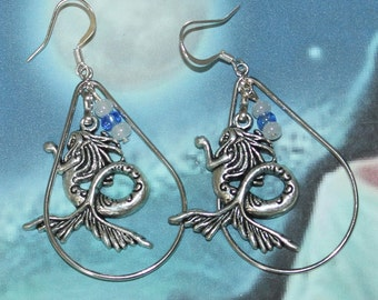 Yemaya Orisha Yemonja inspired  teardrop earrings
