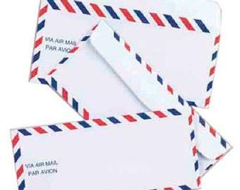 Vintage Airmail Envelopes -25 pack