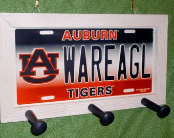 Auburn University License Plate Peg Hanger