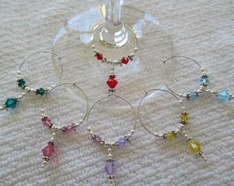 Swarovski Crystal Wine Charms