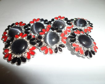 18MM Black and Red Snap