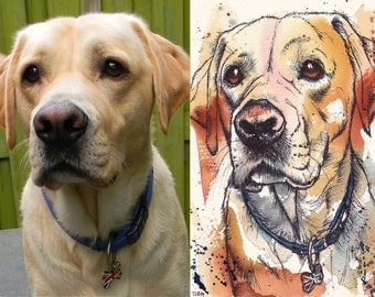 Original Pet Portrait Commissions Available