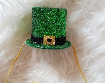 St. Patrick's Day, leprechaun hat, mini top hat, birthday hat, st. Patrick's day birthday