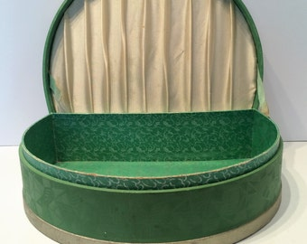 Vintage Glove Box - Large - Green - Lined