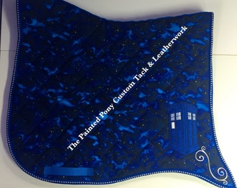 Dr Who inspired swallow tail Tardis saddle pad