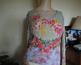Net Girl Mesh 90s Flower Top