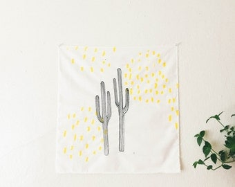Cacti & Yellow Dashed