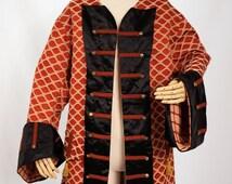 Men's Red Frock Coat - Captain Hook, Pirate, Gentleman, Soldier
