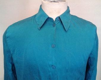Gents Turquoise Shirt (100% Silk)