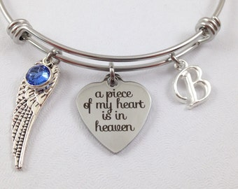 Memorial Charm Bracelet, Memorial Bangle, Sympathy Bracelet, Sympathy Jewelry, Remembrance Jewelry, Custom Memorial Bracelet