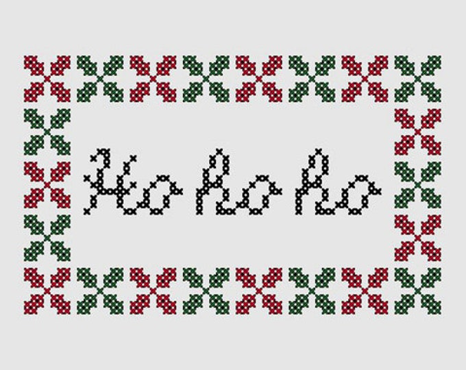 Cross stitch pattern 'Ho ho ho'