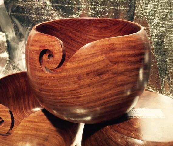 Knitting Bowl Uk : Large yarn wool bowl wooden cm indian rosewood