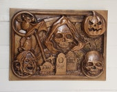 Halloween Decoration Wood...