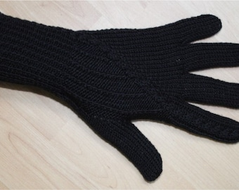 Merino Wool Gloves - Black