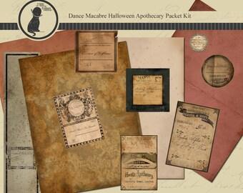 Printable Halloween Apothecary Decoration, Halloween Printable, Halloween Labels, Halloween Papers, Vintage Halloween Labels, Halloween Kit