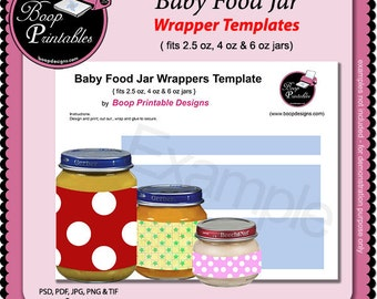 Items similar to baby food jar candle various scents and for Baby food jar label template
