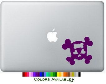 Girly Skull Laptop Decal