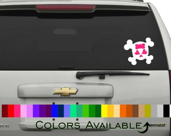 Girly Skull Car Decal