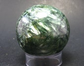 Nice Polished Seraphinite Clinochlore Sphere From Russia - 1.7""