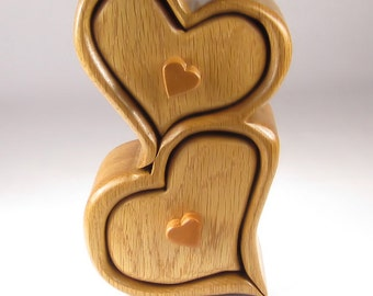Handcrafted Bandsaw Box for Jewelry, Trinket or Keepsakes made from Oak