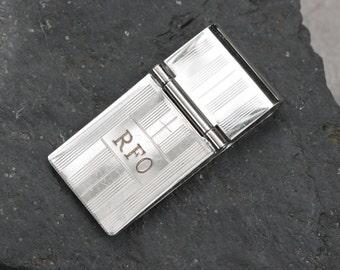 "Sterling Silver ""RFO"" Monogramed Money Clip - JL736"