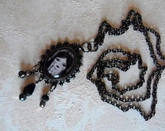 Gothic Art Pendant ~ Gunmetal